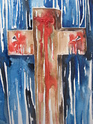 Shed Paintings - The Cross Of Christ by Rachael Pragnell