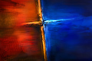 Jesus Mixed Media Metal Prints - The Cross Metal Print by Shevon Johnson