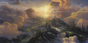 Sunrise Framed Prints - The Cross Framed Print by Thomas Kinkade