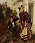 William Street Posters - The Crossing Sweep Poster by William Powell Frith