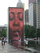 The Crown Fountain Print by Jessica Berlin