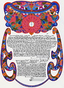 Orthodox Drawings Originals - The Crown Ketubah by Esther Newman-Cohen