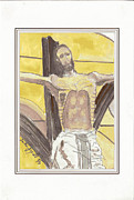 St Piran Framed Prints - The Crucified from Piran Framed Print by Marko Jezernik