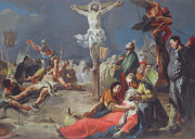 Crucifix Paintings - The Crucifixion by Giovanni Battista Tiepolo
