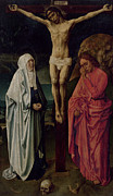 Crucifix Paintings - The Crucifixion by Hugo van der Goes