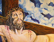 John Keaton Paintings - The Crucifixion by John Keaton