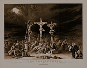 Repent Prints - The Crucifixion / La Crucificazion / La Crucifixion  Print by N Currier the Firm