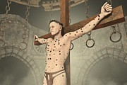 Punishments Prints - The Crucifixion Print by Liam Liberty