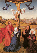Religious Jesus On Cross Posters - The Crucifixion  Poster by Rogier Van Der Weyden