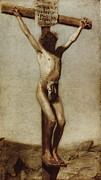 Religious Art Digital Art Metal Prints - The Crucifixion Metal Print by Thomas Eakins