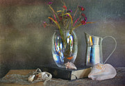 Vase Of Flowers Prints - The Crystal Vase Print by Diana Angstadt
