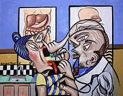 Giclee Prints Prints - The Cubist Doctor MD Print by Anthony Falbo
