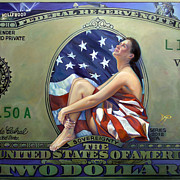 Dollar Paintings - The Curse of Freedom by Patrick Anthony Pierson
