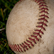 Baseball Closeup Photo Metal Prints - The Curveball Metal Print by David Patterson