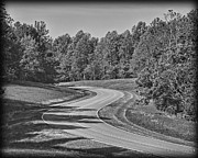 Natchez Trace Framed Prints - The curves of the Natchez Trace Framed Print by Pic