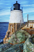Ri Lighthouse Prints - The Cutest Lighthouse in the World Print by Joan Carroll