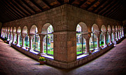 Middle Ages Prints - The Cuxa Cloister Print by Mark Miller