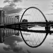 River Clyde Glasgow Framed Prints - The Cyde Arc Squinty Bridge Framed Print by John Farnan