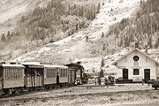 Durango Prints - The D and S Pulls Into The station Print by Mike McGlothlen