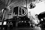 Freemont Street Prints - the D Las Vegas casino hotel freemont street Nevada USA Print by Joe Fox