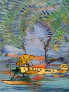 Biplane Paintings - The Daily Mail by Jeff Seaberg