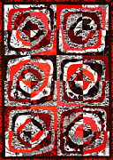 Red Art Tapestries - Textiles Framed Prints - The Daily News Framed Print by Jean Baardsen