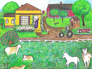 Raising Mixed Media - The Dairy Farm by Barbara LeMaster