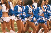 Pro Football Cheerleaders Prints - The Dallas Cowboys Cheerleaders Print by Donna Wilson