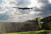 Lancaster Bomber Digital Art - The Dambusters over The Derwent by James Biggadike