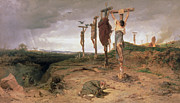 Execution Painting Posters - The Damned Field Execution place in the Roman Empire Poster by Fedor Andreevich Bronnikov