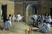 Old Masters Digital Art - The Dance Foyer at the Opera on the rue Le Peletier by Nomad Art And  Design
