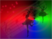 Ballerinas Digital Art Prints - The Dance Print by Joyce Dickens
