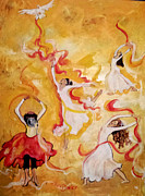 Prophetic Art Painting Originals - The Dance by Paula Stacy Adams