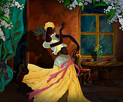 Dancer Art Digital Art Prints - The Dancer Act 1 Print by Bedros Awak