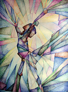 Green Movement Drawings Framed Prints - The Dancer Framed Print by Jennifer Apffel