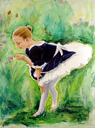 Tutus Painting Posters - The Dancer Poster by Sheila Diemert