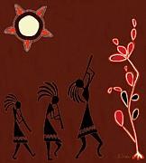 The Dancers Print by Barbara Drake