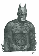 The Dark Knight Drawings - The Dark Knight by Rich Colvin