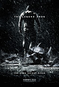 Christian Bale Posters - The Dark Knight Rises Poster Poster by Sanely Great