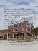 Gettysburg Painting Framed Prints - The David Wills House 1816 Framed Print by Barbara Murphy