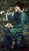 Rossetti Painting Framed Prints - The Day Dream Framed Print by Dante Gabriel Rossetti