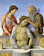 Famous Artists - The Dead Christ supported by Saints by Marco Zoppo