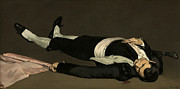 Sport Paintings - The Dead Toreador by Edouard Manet