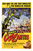 Movie Mixed Media - The Deadly Mantis 1957 Vintage Movie Poster by Presented By American Classic Art