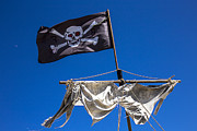 Pirate Ships Framed Prints - The death flag Framed Print by Garry Gay