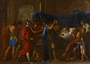 Grieving Painting Posters - The Death of Germanicus Poster by Nicolas Poussin