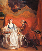 Couple In Love Paintings - The Declaration of Love by Jean-Francois De Troy