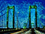 Memorial Mixed Media - The Delaware Memorial Bridge by Angelina Vick
