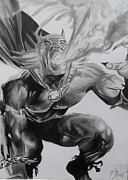 Superheros Drawings - The Demon by Luis Carlos Alvarado