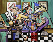 Cubist Mixed Media Framed Prints - The Dentist Is In Root Canal Framed Print by Anthony Falbo